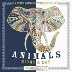 animalsnightandday - Coloring Book for Adults - Amazing Swirls