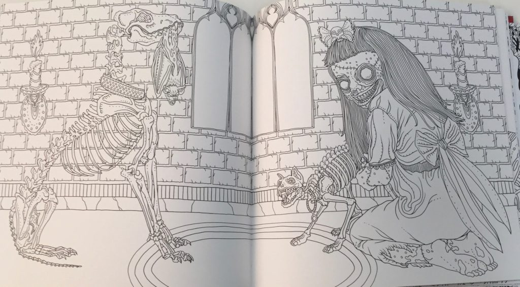 The Beauty Of Horror A Gorgeous Coloring Book Coloring