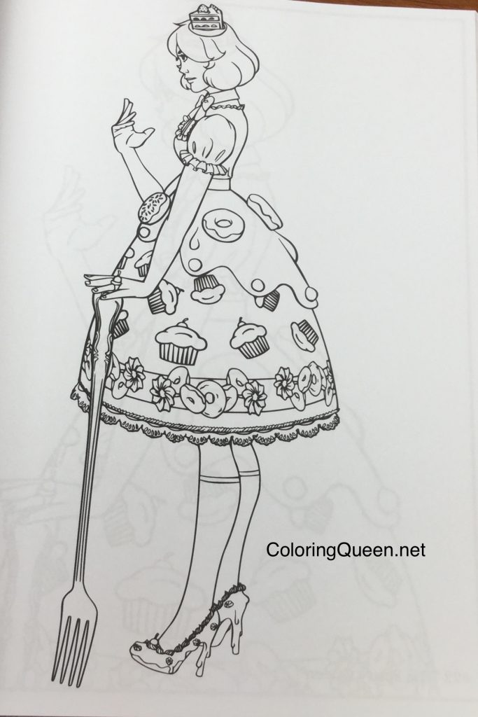 lolita fashion coloring book for adults - Fashion Coloring Books
