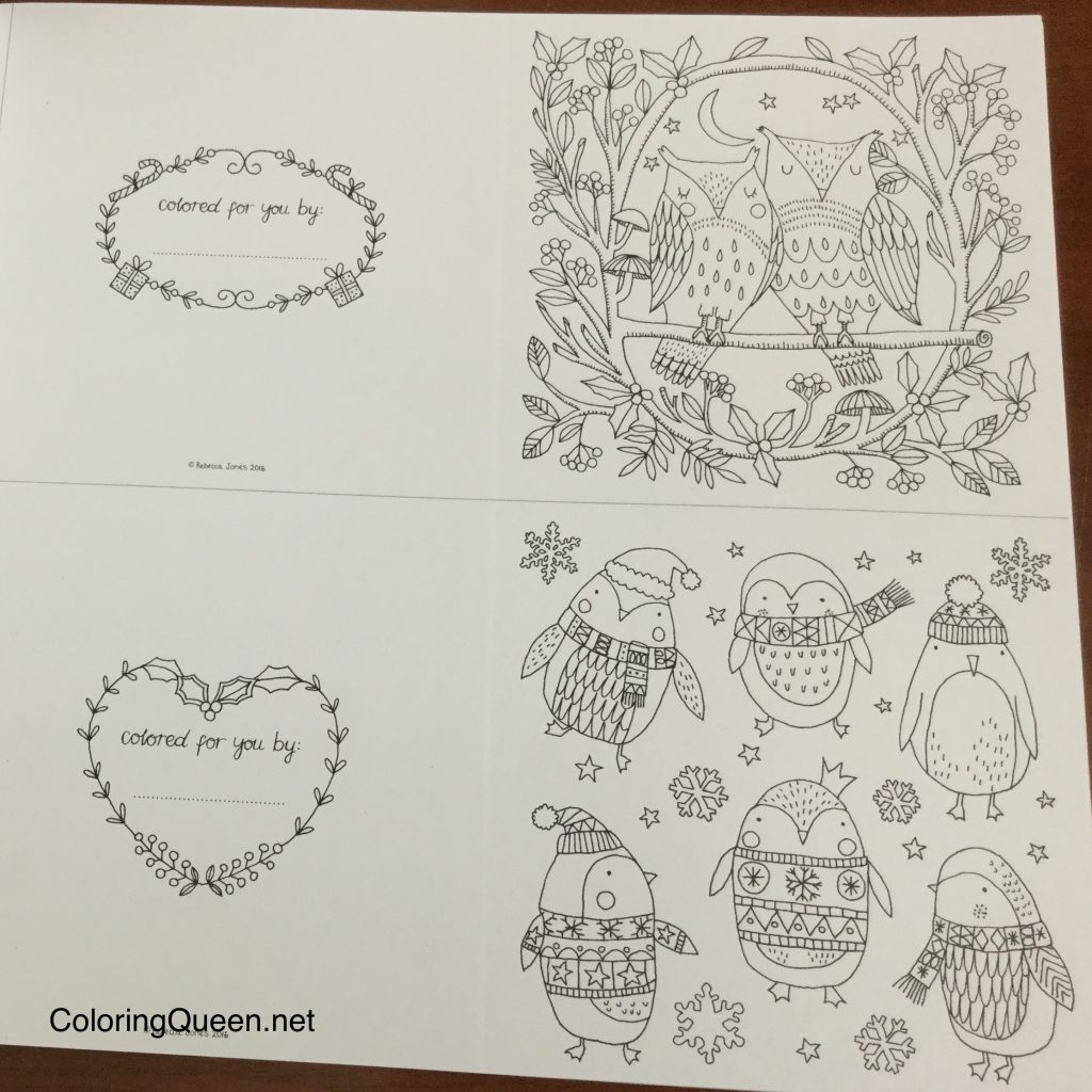2815025562 the coloring book of cards envelopes christmas