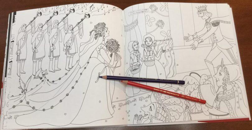 TheCinderellaStoryJapaneseColoringBook 10 1024x530 - Cinderella Story Coloring Book