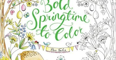 boldspringtimetocolorcover - Manic Botanic Coloring Book