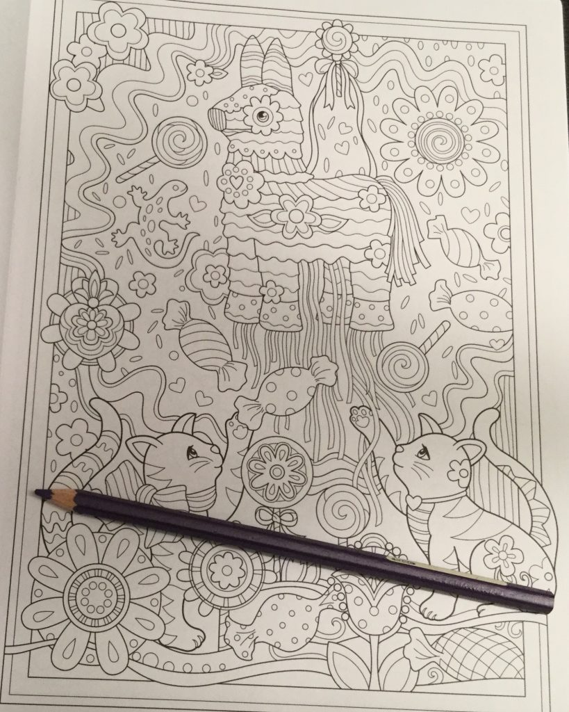 Coloring book kittens - Detail Level