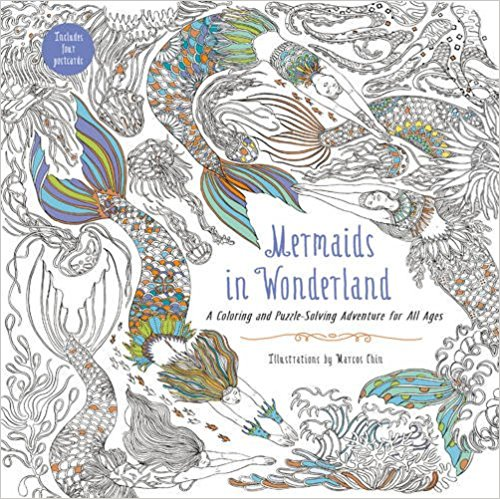 Mermaids in Wonderland: A Coloring and Puzzle-Solving Adventure for All Ages