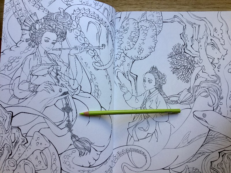 Korean Fairy Tale Hanbok Coloring Book 17 800x600