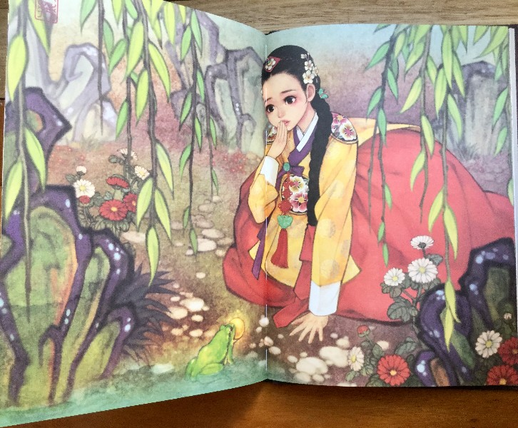 Fairy Tale Korean Illustrations Hanbok Coloring Book