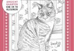 See inside this collection of 8 postcards of cats to color by Dutch artist, Francien van Westering