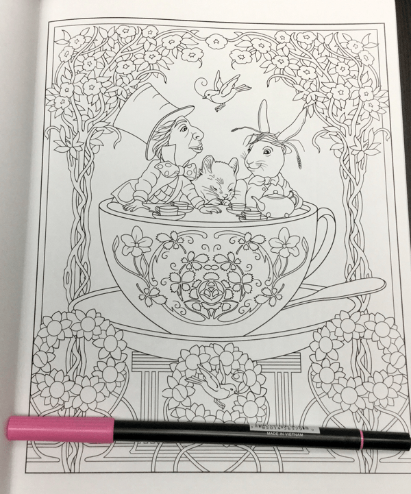 Alice in Wonderland Creative Haven  8 - Alice in Wonderland Coloring Book Review