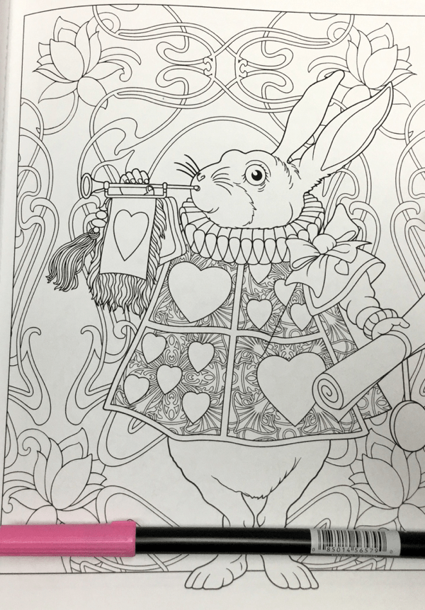 Alice in Wonderland Creative Haven 23 - Alice in Wonderland Coloring Book Review