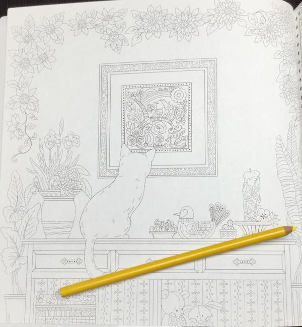 keiko cat coloring book  14 - Yasuragi no Garden - The Walking Path of a Dreaming Cat  Coloring Book Review