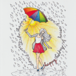 dropofhappinesscoloringbook - Cosmo Cricket - Just Add Watercolor - Quote Cards