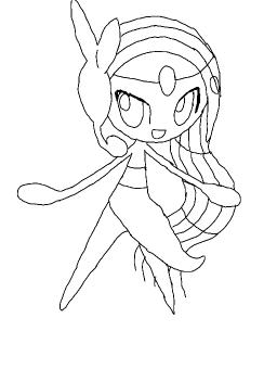 Pokemon Meloetta Coloring Pages Sketch Coloring Page