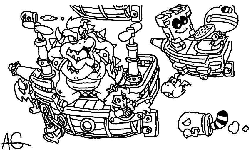 Mario coloring 1.0 by jamessul