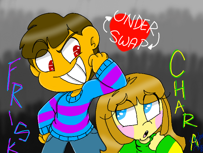 Frisk Undertale Underswap Chara And