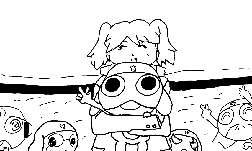 sgt frog coloring page by chavosaur
