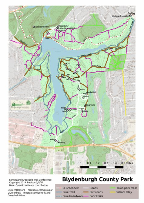 Long Island Greenbelt Trail Map : island, greenbelt, trail, Blydenburgh, County, Trail, Island, Greenbelt, Conference, Avenza