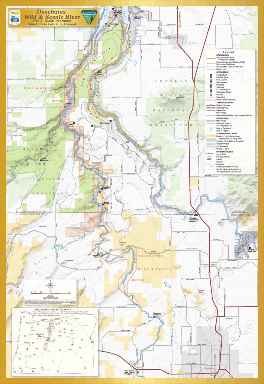Lake Billy Chinook Map : billy, chinook, Deschutes, Scenic, River,, Falls, Billy, Chinook, Bureau, Management, Oregon, Avenza