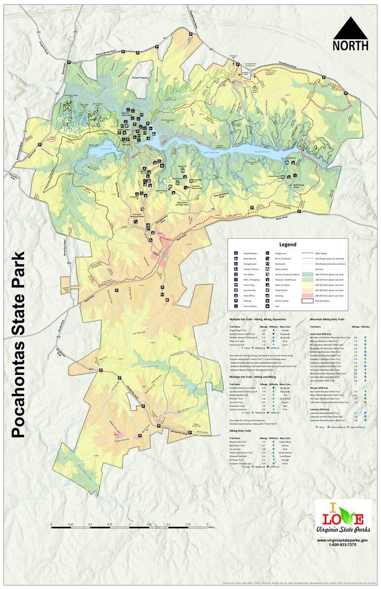 Pocahontas State Park Trail Map : pocahontas, state, trail, Pocahontas, State, Virginia, Parks, Avenza