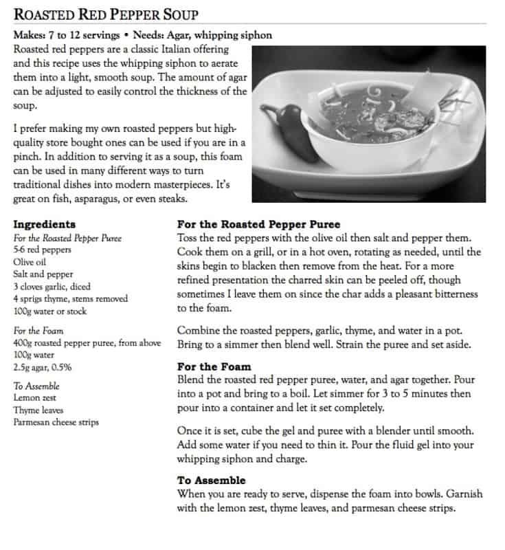 recipe layouts