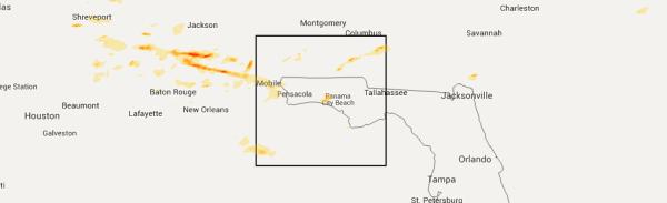 Interactive Hail Maps Hail Map for Miramar Beach FL