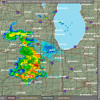 Radar Image for Severe Thunderstorms near Joliet, IL at 7/11/2020 9:18 PM CDT