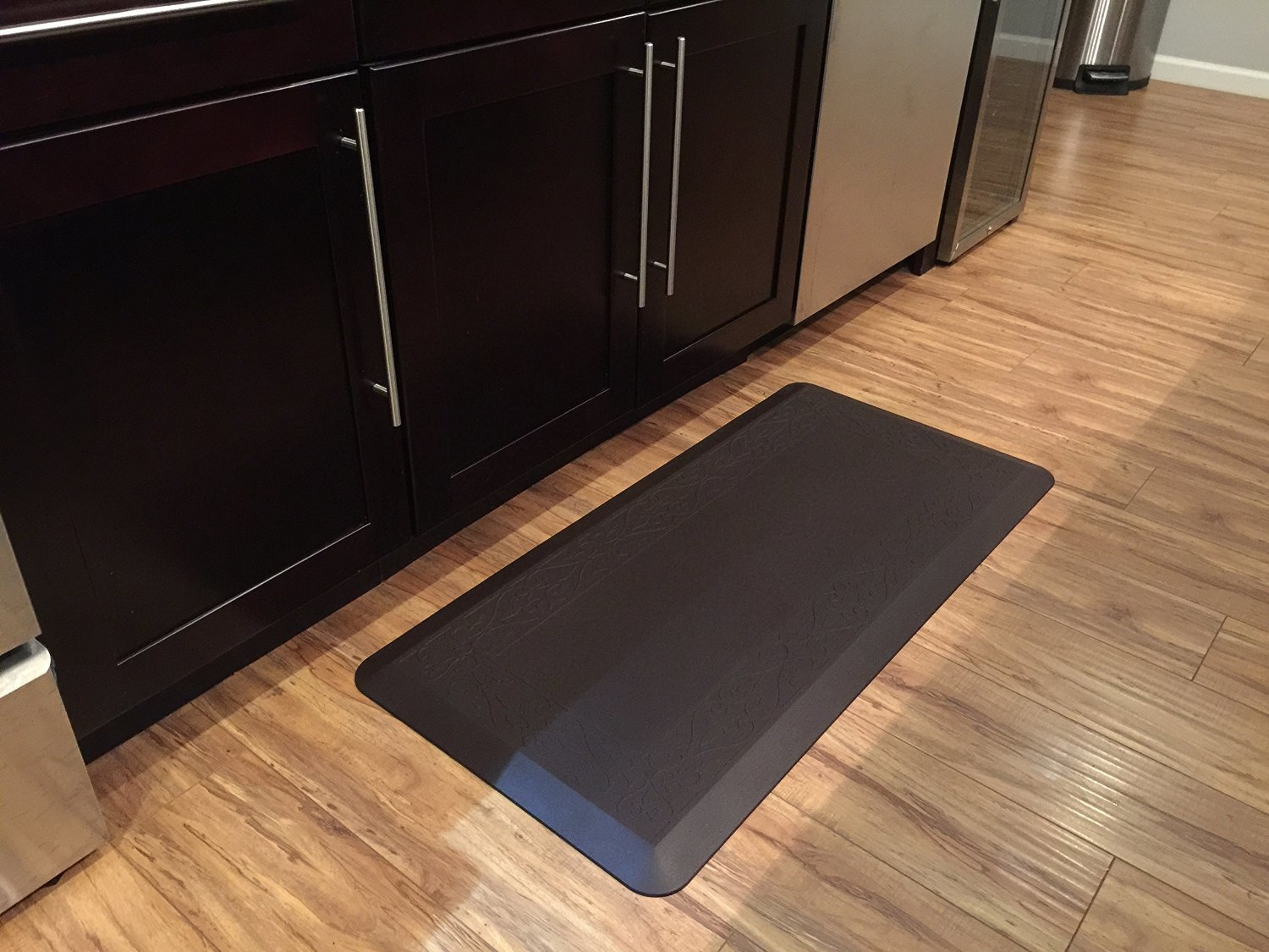 kitchen mats amazon play for toddler novaform anti fatigue mat 20in x 42in color dark