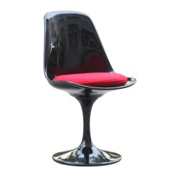 Tulip Dining Room Chairs Contemporary Saarinen Style Chair Black Red Ebay