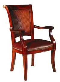 Pair of 2 Rosewood/Leather Baroque Arm Chairs | eBay