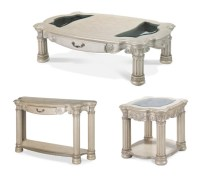 Silver Pearl 3-pc Coffee Table Set | eBay