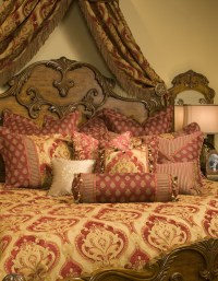 Emelie Red/Gold Paisley King Comforter Bedding Set