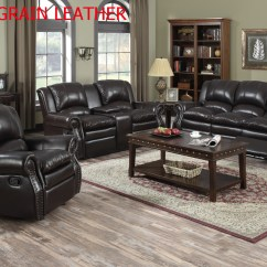 Entertainment Sofa Sets Leather Sectional Sleeper Costco 3 Pc Dark Brown Top Grain Reclining