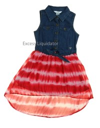 Guess Jeans Kids Girls Patterned, Denim, and Lace Dresses