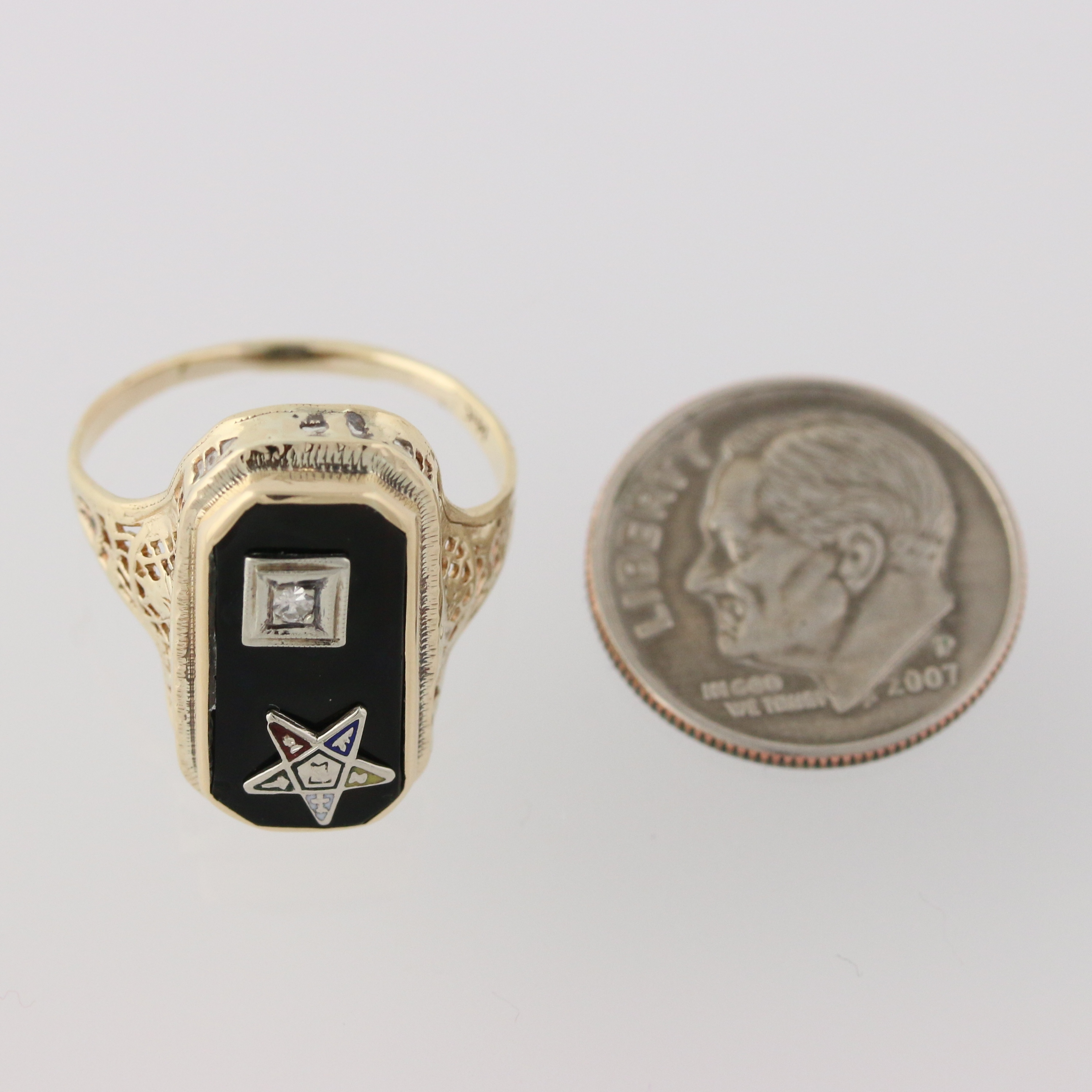 Vintage Order of the Eastern Star Ring