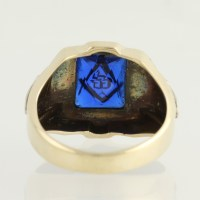 Blue Lodge Ring - 10k Yellow Gold Synthetic Blue Spinel ...