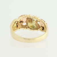 Coleman Co. Black Hills Gold Ring- 10k Yellow, Rose ...