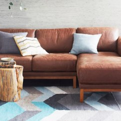 Small Sectional Sofa West Elm Double Recliner Meaning 4 Modern Leather Sofas For A Better Living Room