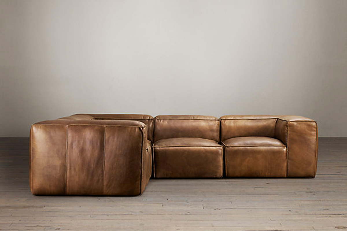 fulham sofa rh polyester dogs 4 modern leather sectional sofas for a better living room
