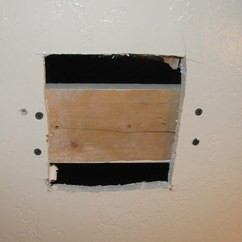 How Do You Fix A Hole In Leather Sofa Two Piece Covers Repair Small Ceiling Drywall Gradschoolfairs