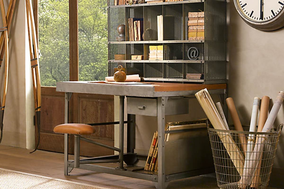 restoration hardware aviator chair used wicker swivel outdoor 12 industrial desks you 39ll want for your home office