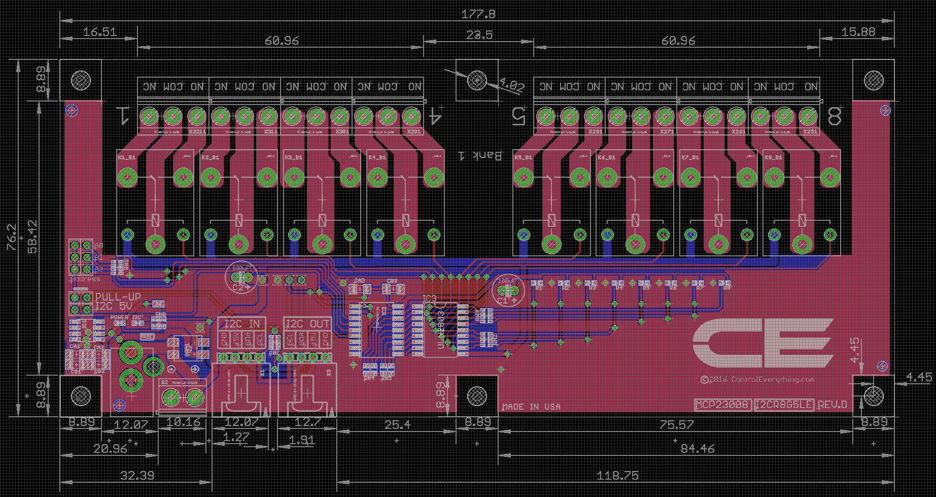dpdt relay wiring diagram 1999 bmw z3 stereo 8 channel controller for i2c spdt 10 amp