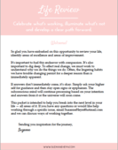 Life review worksheet