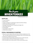Wheatgrass printable
