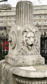 Lion head on the fountain at st martin in the fields