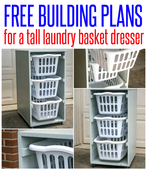Free build plans for a tall laundry basket dresser