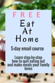Eat at home ecourse pin