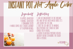 Instant pot apple cider opt in