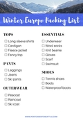 Europe in the winter packing list