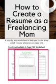 How to create a resume as a freelancing mom(1)