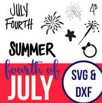 Fourth of july svg dxf