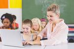 Bigstock teacher teaching schoolgirl on 171604640